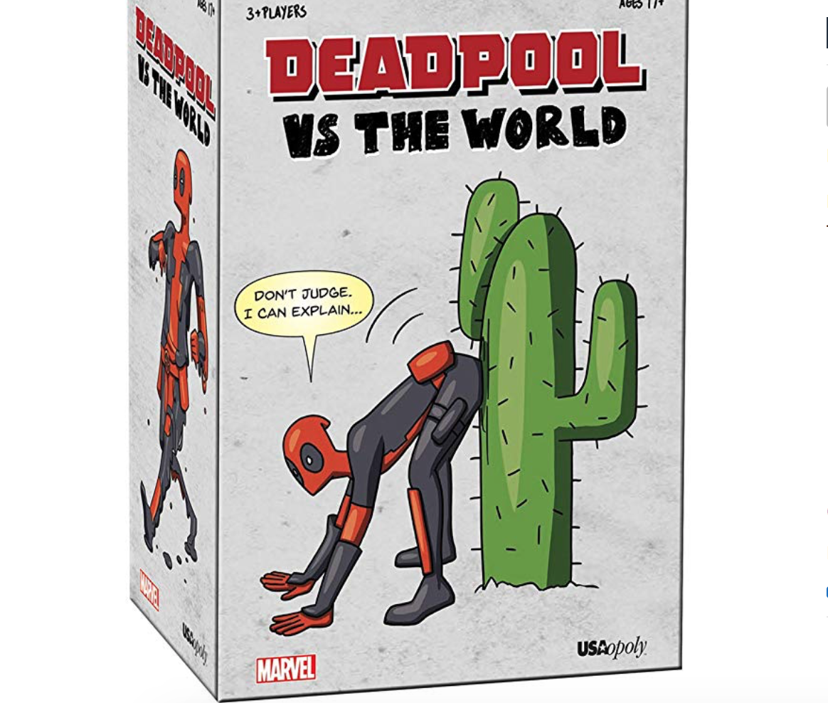 "USAOPOLY GAMES FOR ADULTS - Time for an adult game night! We found some hilarious new games from USAopoly. For the Deadpool/super hero fans, there's Deadpool vs the World. ""Featuring 100 custom illustrations of Deadpool in very strange and unsightly situations, players face off against their friends by filling in the blanks on Caption cards to provide the most outrageous explanations of the Merc with a Mouth's predicaments. The player who best describes Deadpool's compromising situations wins the game."" This fun party game is for mature adults. Another great adult game is Privacy. In this game, players get a chance to ask the questions they've wanted answers to, but have been afraid to ask. ""Players anonymously answer outrageous and depraved questions by securing ""Yes"" or ""No"" votes, then predict how many total ""Yes"" answers were submitted.""USAopoly has some fun family games too. This 25 anniversary Nightmare Before Christmas Yahtzee game features dice with characters including the Mayor, Oogie Boogie, Sally and of course Jack. Disney CodeNames is a game that will test you Disney knowledge. Each Clue-giver, says one word at a time to help their teammates guess which card they're talking about. Lots of family fun, with some great themed games. Check out all USAopoly's games below."