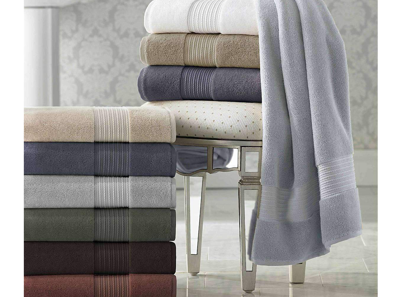 St. Tropez 100% Supima Cotton Spa Towels - Luxor Linens - We just got our very first monogrammed set in since being engaged! Luxor Linens has an awesome line of luxury spa cotton towels, that come in 11 different colors. And you can have them all monogramed as well! Perfect gift for the newlyweds. These towels are super absorbent and dry quick as well. Our favorite part, is these are oversized and nice and fluffy…so very cozy after a nice shower. There's not much worse than hopping out of the shower and having to dry off with a thin small towel. Now we get the luxury of the spa, with our very own towels. (Seriously, she'll thank you!) They're also made super durable, so they'll last you a long time. Plus, you can personalize them with whatever you want, so they'll make a great gift for anyone on your list! Be sure to check out their full line of towels, robes and linens on their site. There's sure to be something you'll love!