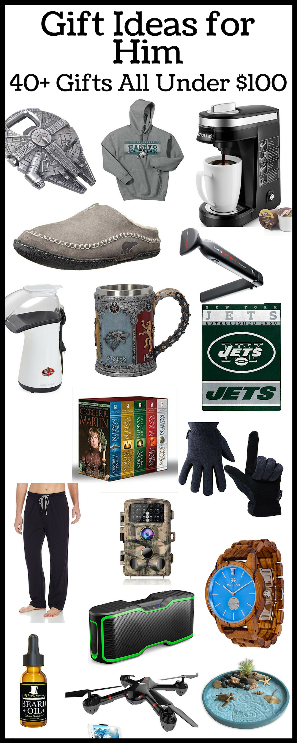 Gift Ideas for Him -Budget Gift Ideas. Gifts for Father's Day - gift idea for boyfriend - gift guide for men - Need ideas on what to get your boyfriend, best friend, brother, uncle, dad, etc. for their birthday, Father's Day, Christmas, anniversary or any other holiday?  Check these out!