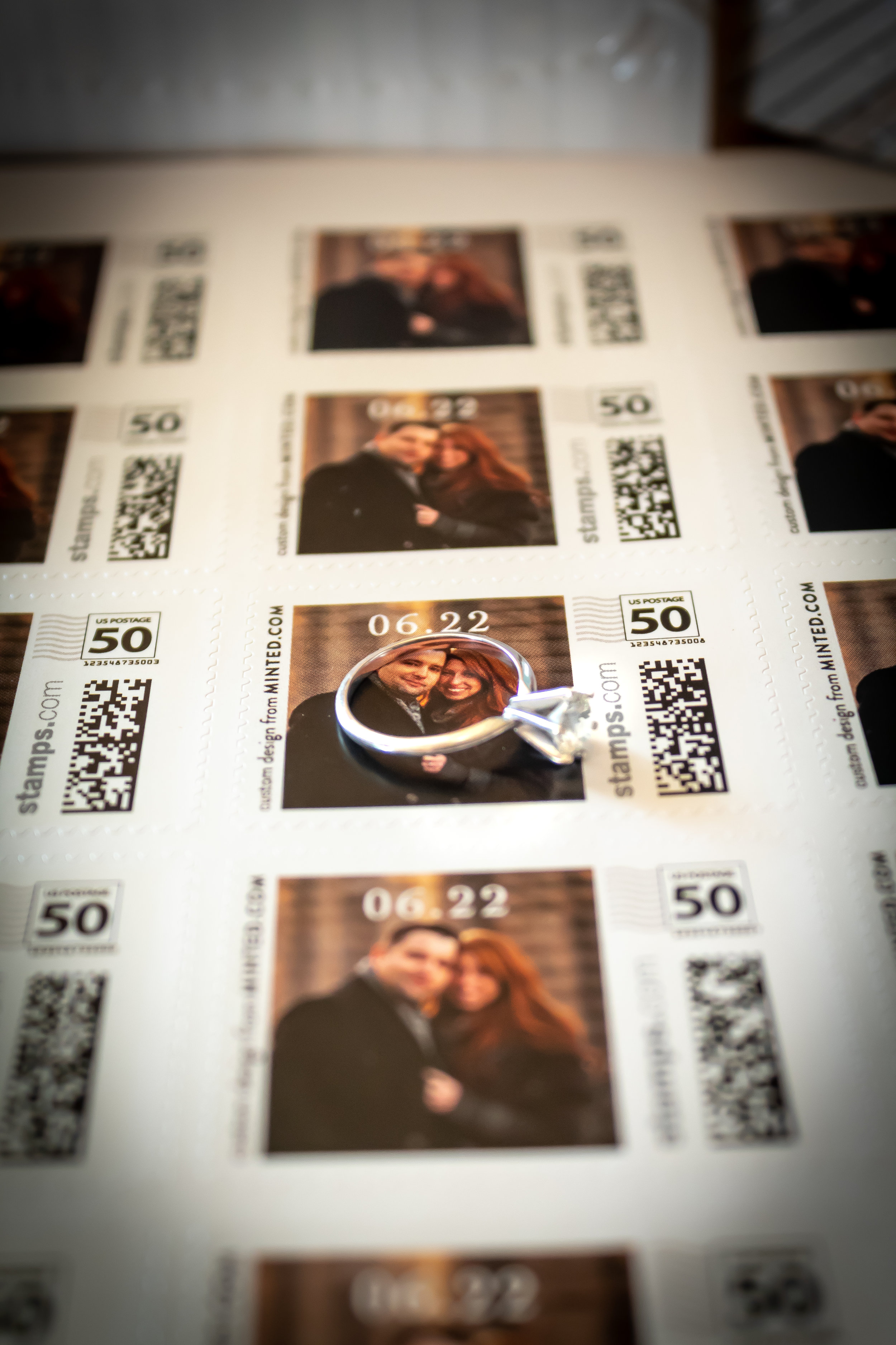Minted Custom Wedding Stamps