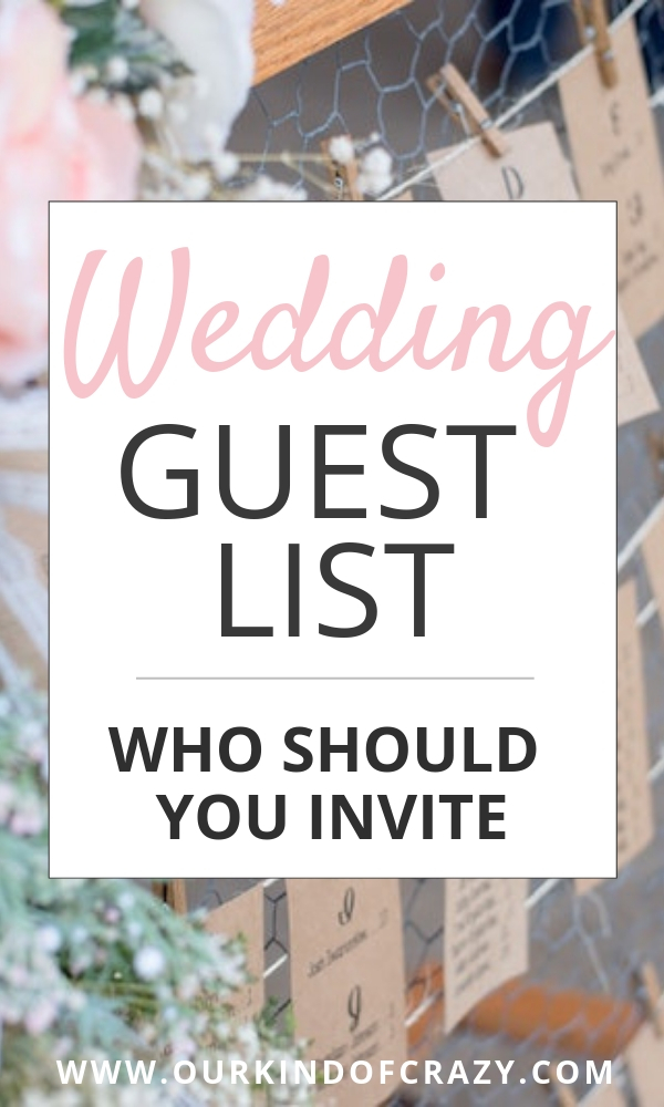 How to figure out your Wedding Guest List. Who to invite to your wedding. How to figure out who should go to your ceremony and reception.