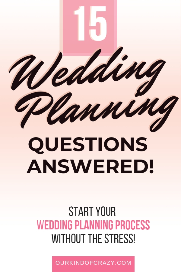 Wedding Planning Questions Answered!