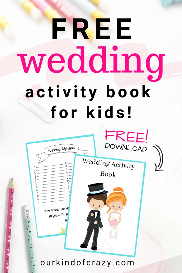 Free Wedding Activity Book for kids