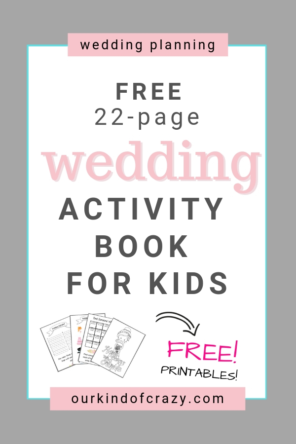 Free Wedding Activity Book for kids. Best Kids Ideas for weddings