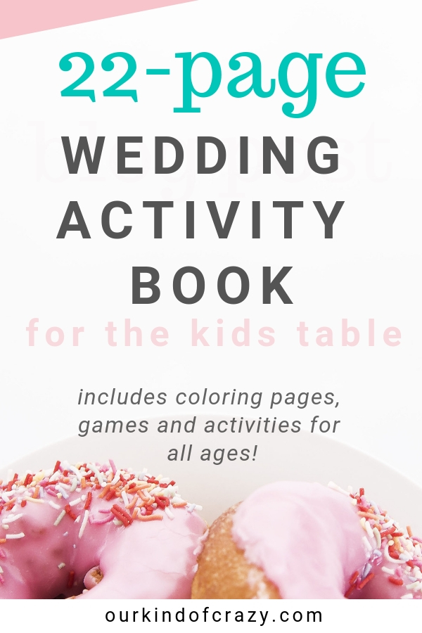 Activity Book for Kids at a Wedding