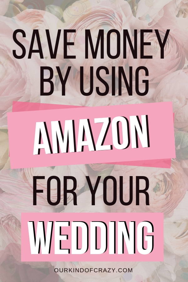 Save Money on Your Wedding with Amazon. Here are some great ways to save tons of money on your wedding purchasing items from Amazon.