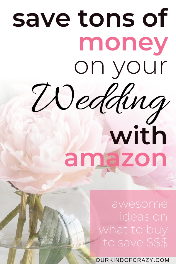 Save Money On Your Wedding With Amazon