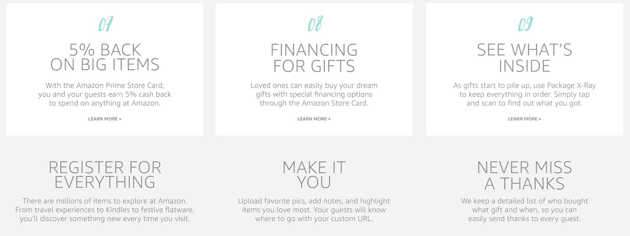 amazon wedding benefits