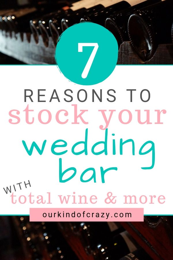 Stock Your Wedding Bar with Total Wine & More to Save Loads of money on your wedding beverages. Looking to save money on your wedding? How about stocking your own bar!