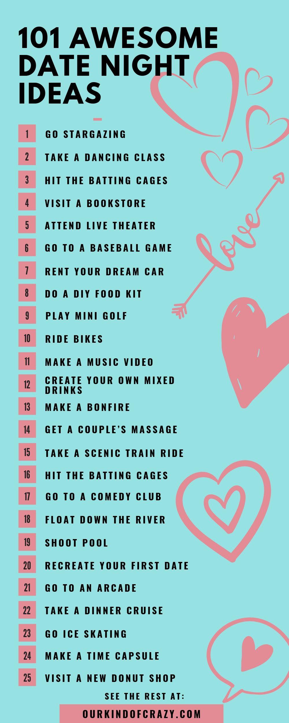 101 Date Night Ideas That Aren T Dinner A Movie Ourkindofcrazy Com