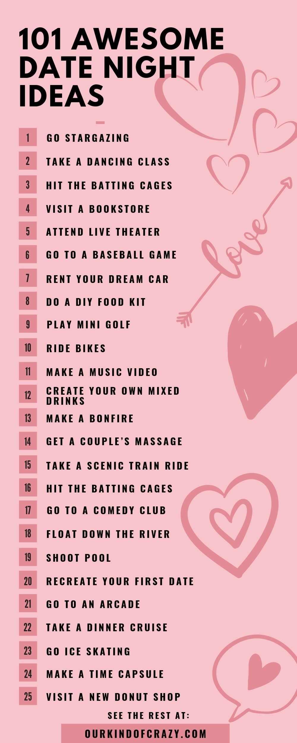101 Date Night Ideas That Aren T Dinner A Movie Ourkindofcrazy Com