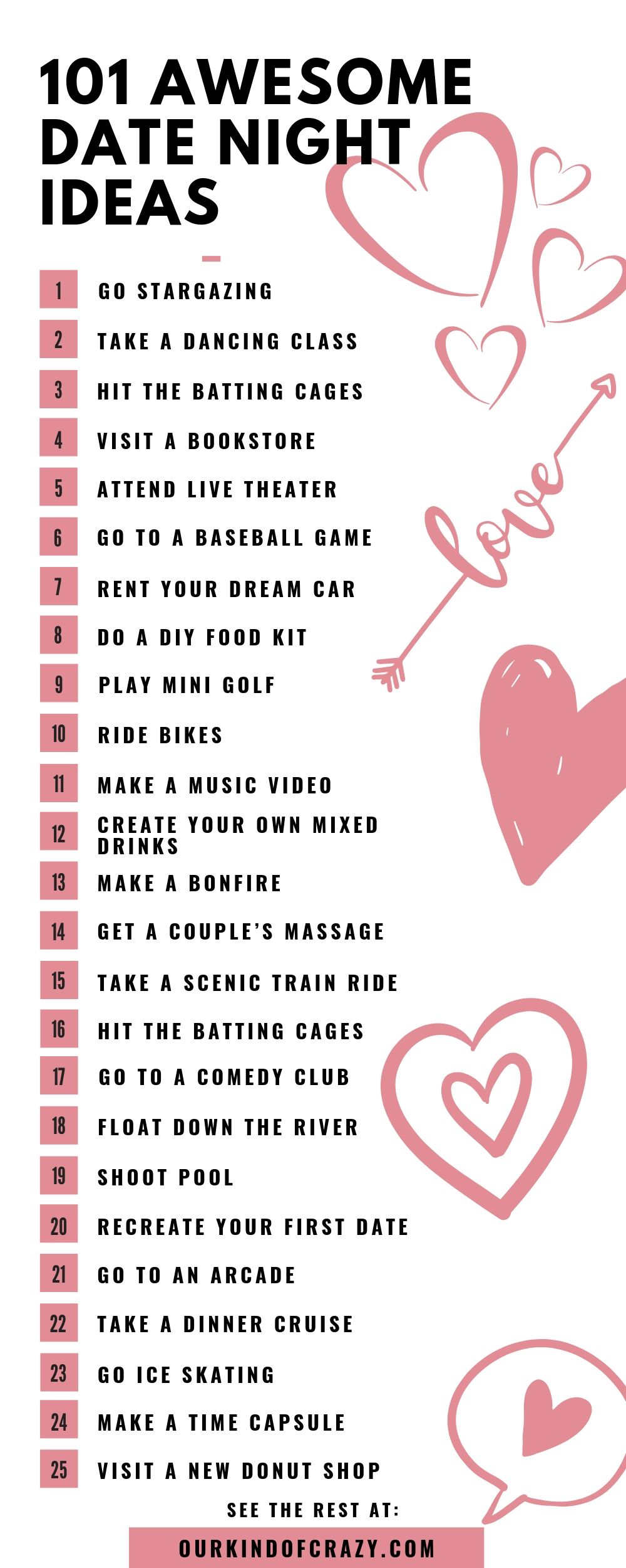 Date ideas for all. These unique date night ideas range from cute, fun, romantic, cheap,  stay at home, and rainy date ideas. Perfect dates for new couples, married couples, first dates, teenagers, parents and more! #datenight #dateidea