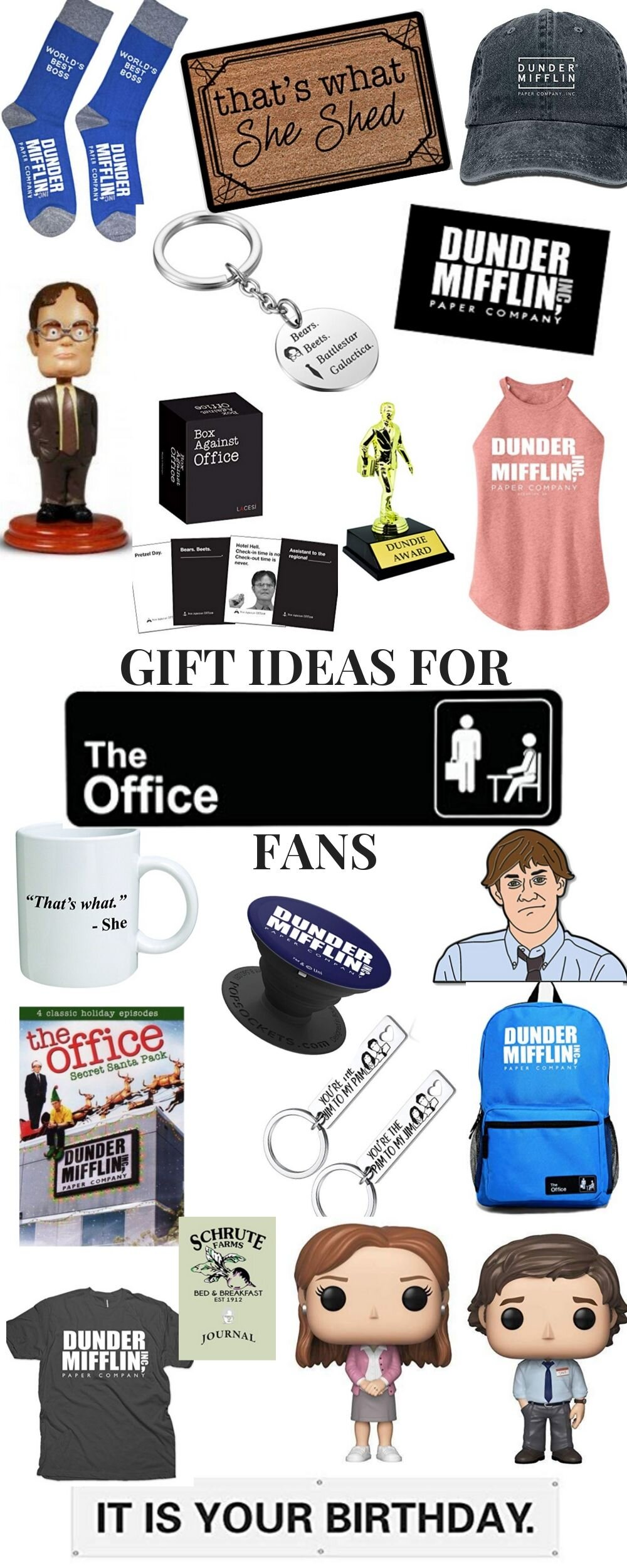 The Office TV Show Gift Guide. Great gift ideas for the Office fans on your list.