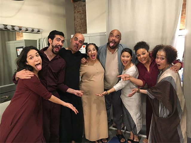 "wah wah! i am missing these lovelies already! final week of ""Passage"" to see these wonders do some stunning work! #passageplay #actorslife #offbroadway #lovetheatre #maternityleave #pregnantactress #pregnancy #motherhood #lucky #grateful @yairbd @davidryansmith @kkmoggie @lindapnyc @_andreaabello @sohorep @sahlovestravels @arnulfo.maldonado.design #christopherchen"