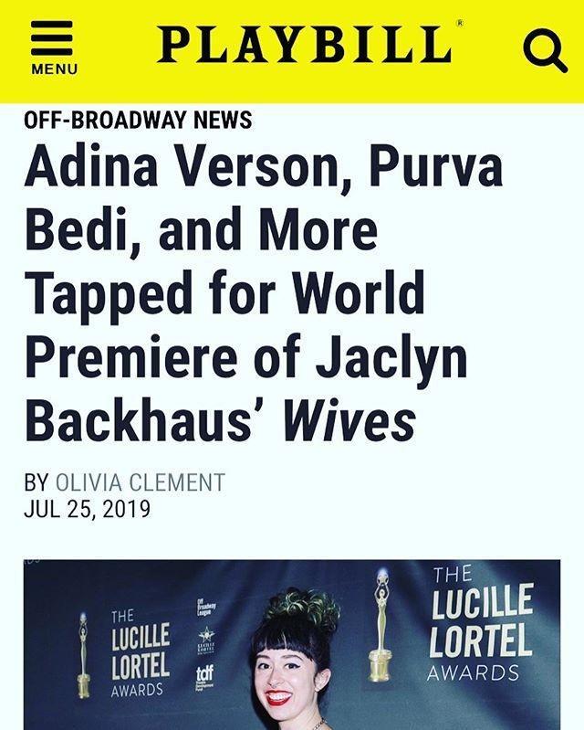So excited for this one! #grateful #offbroadway #newplay #premiere #actor #playwrightshorizons @adinaverson @sathyayayaya @jaclynbackhaus @margotbordelon #mahirakakkar