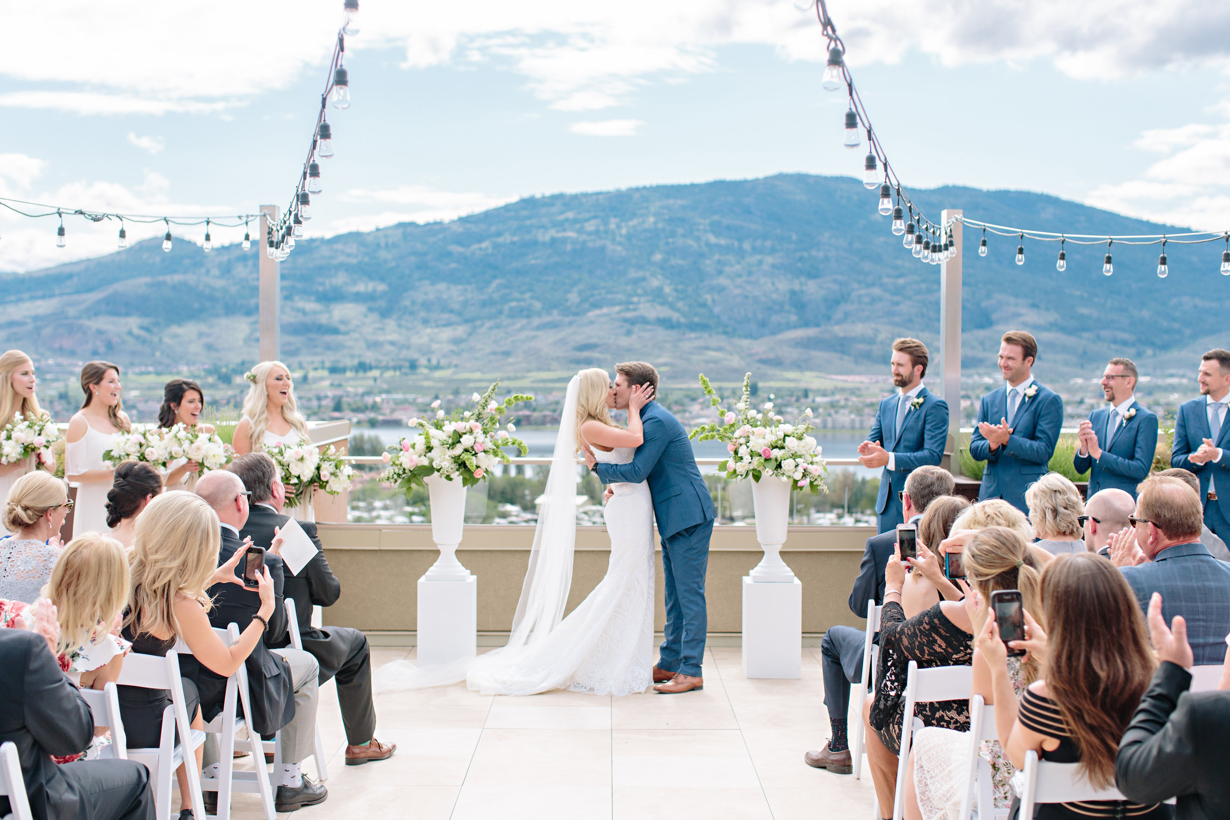 okanagan osoyoos summer wedding ceremony recessional just married i do.jpg