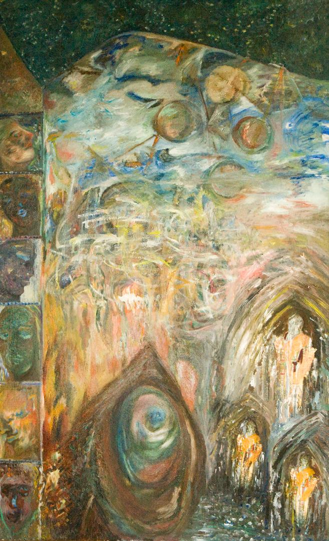 Reincarnation, oil, 1990