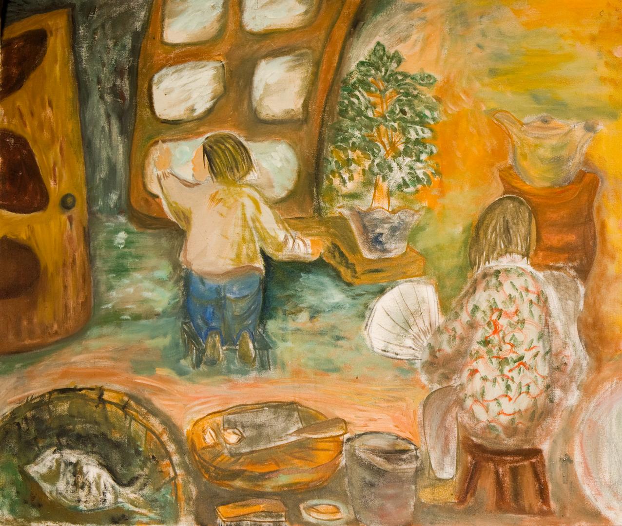 Childhood, oil, 1979