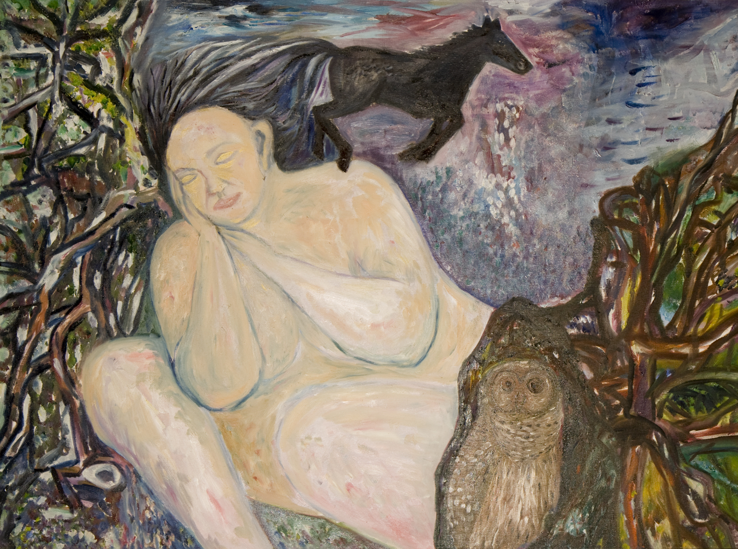 Old Woman Dreaming, oil, 2002