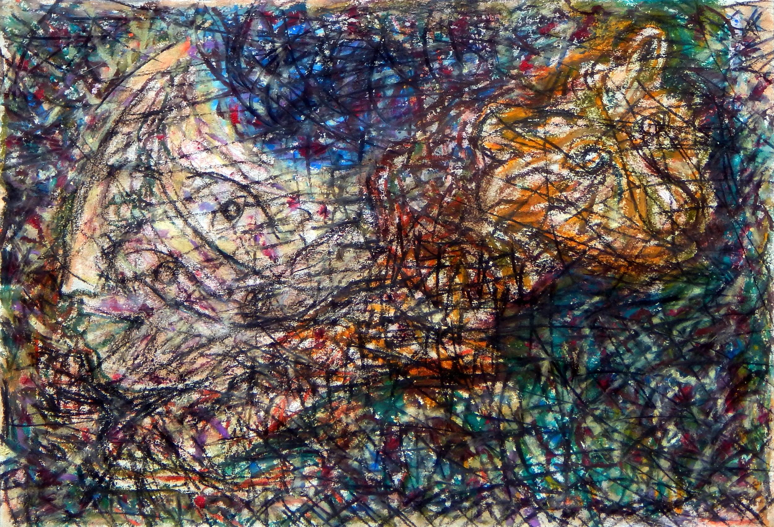 Tiger Dream, oil pastel, 2014
