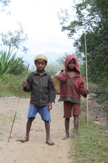 Boys in Sainte Luce littoral forestMadagascar