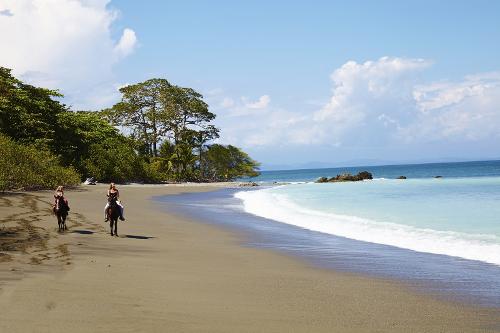 Horse riding on the beach, Golfo Dulce, Lapa Rios, Costa Rica