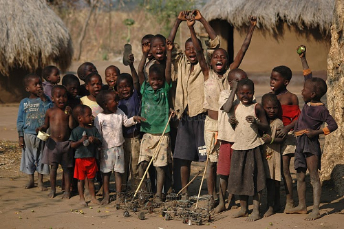 Kids in Ntchisi Malawi