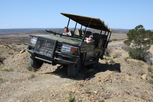having fun on the 4x4 driving range training