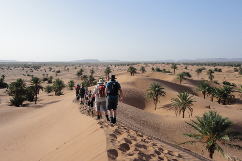 a charity challenge trekking in the sahara. I love this incredible trip & Marrakech!