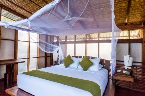 Jicaro Island Ecolodge Casita bedroom