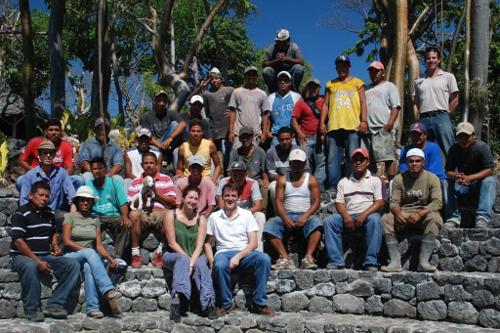 Jicaro Island Ecolodge construction team