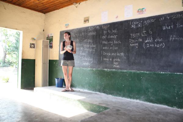 SEED Madagascar volunteer Teaching in st Luce