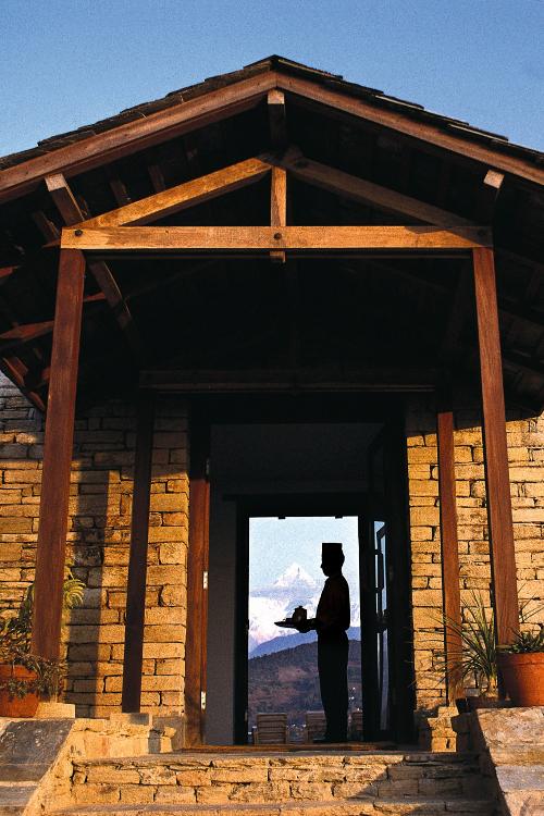 Tiger Mountain Pokhara Lodge, Nepal - Entrance