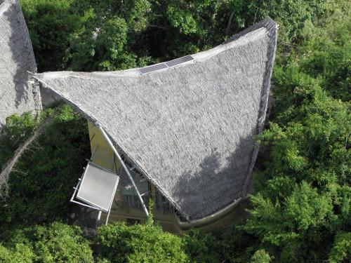 Solar water heater, Chumbe Island, Tanzania