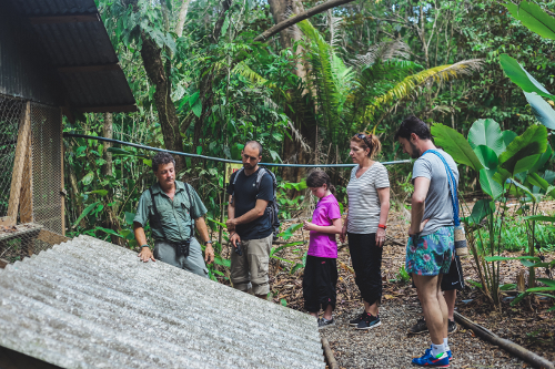 back of house Sustainability tour for Guests, Lapa Rios, Costa Rica