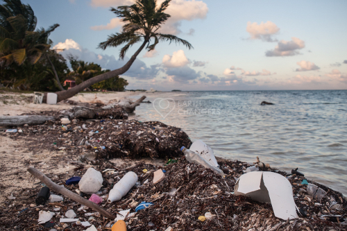 Plastic debris and pollution wasehes up on beaches all over the world