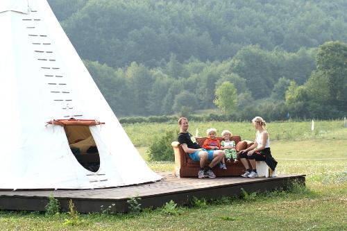 Linden Tree Retreat Ranch family tipi