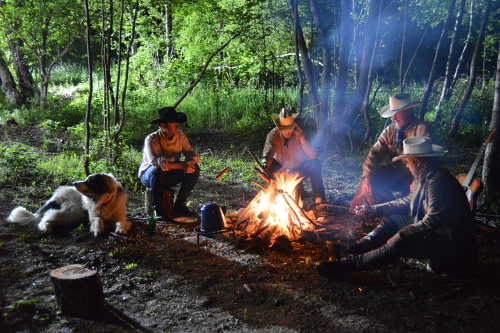 Linden Tree Retreat & Ranch Croatia cowboy fire