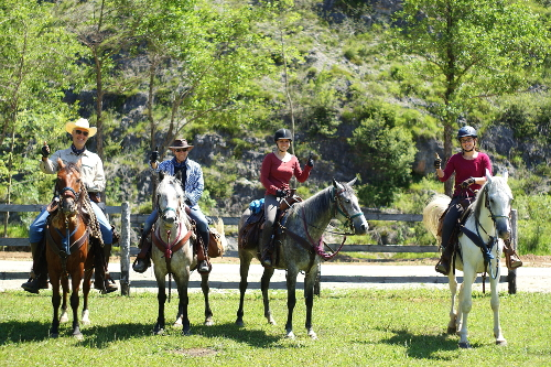 Guests horse ride - groups welcome
