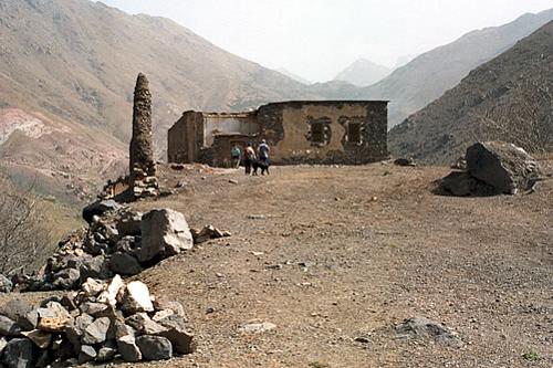 kasbah du toubkal ruin before rebuildng