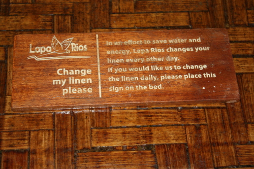 Change my Linen sign