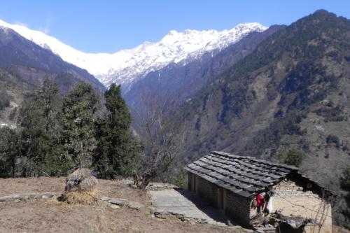India Village Ways - View between Dhurr and Khami, Pindar-