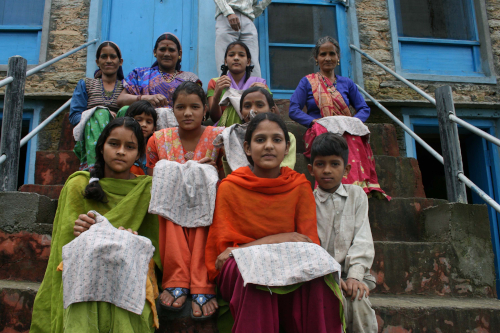 Sewing pastimes supporting rural village livelihoods & community in india
