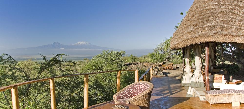 Mount Kilimanjaro from Tembo-House, Campi ya Kanzi, Kenya © Ian Johnson