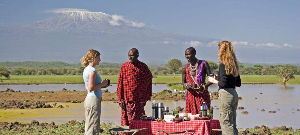 Breakfast with Community and Conservation under Mount Kilimanjaro at Campi ya Kanzi, Kenya