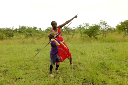 Kids can learn warrior skills from the Maasai