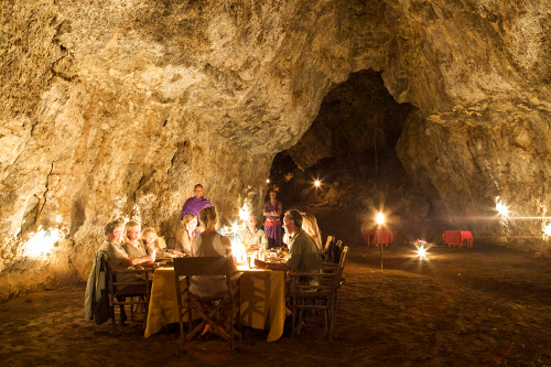 Dine in a Maasai cattle cave!
