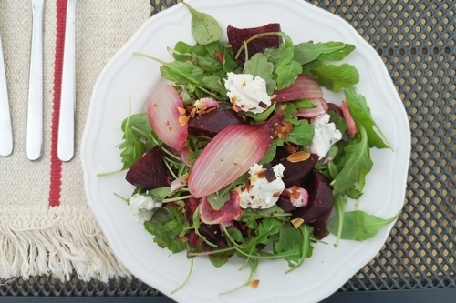 A scrumptious seasonal salad made by Cindy