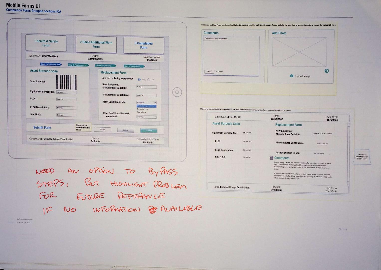omnigraffle prototype and user feedback
