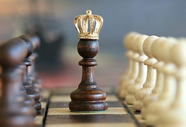 closeup of king chess piece
